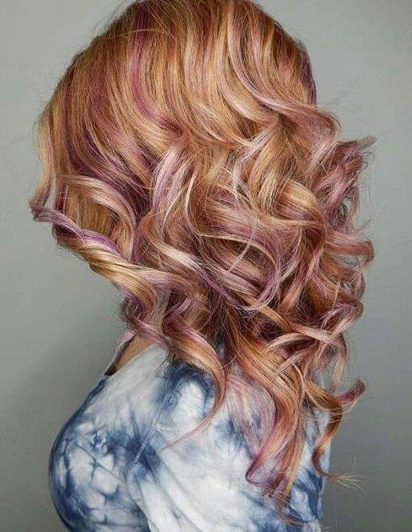 Strawberry Blonde Hair With Purple Cool Stuff Pinterest