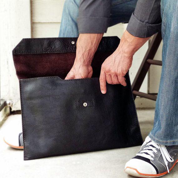 Handmade Brown Leather Laptop Sleeve Brown Leather Laptop Sleeve Leather Laptop Case