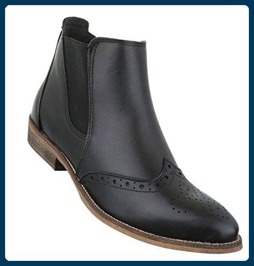 2f9332ac4d5ed6 Damen Stiefeletten Schuhe Stiefel Leder Chelsea Boots Schwarz 36 - Stiefel  für frauen ( Partner-Link)