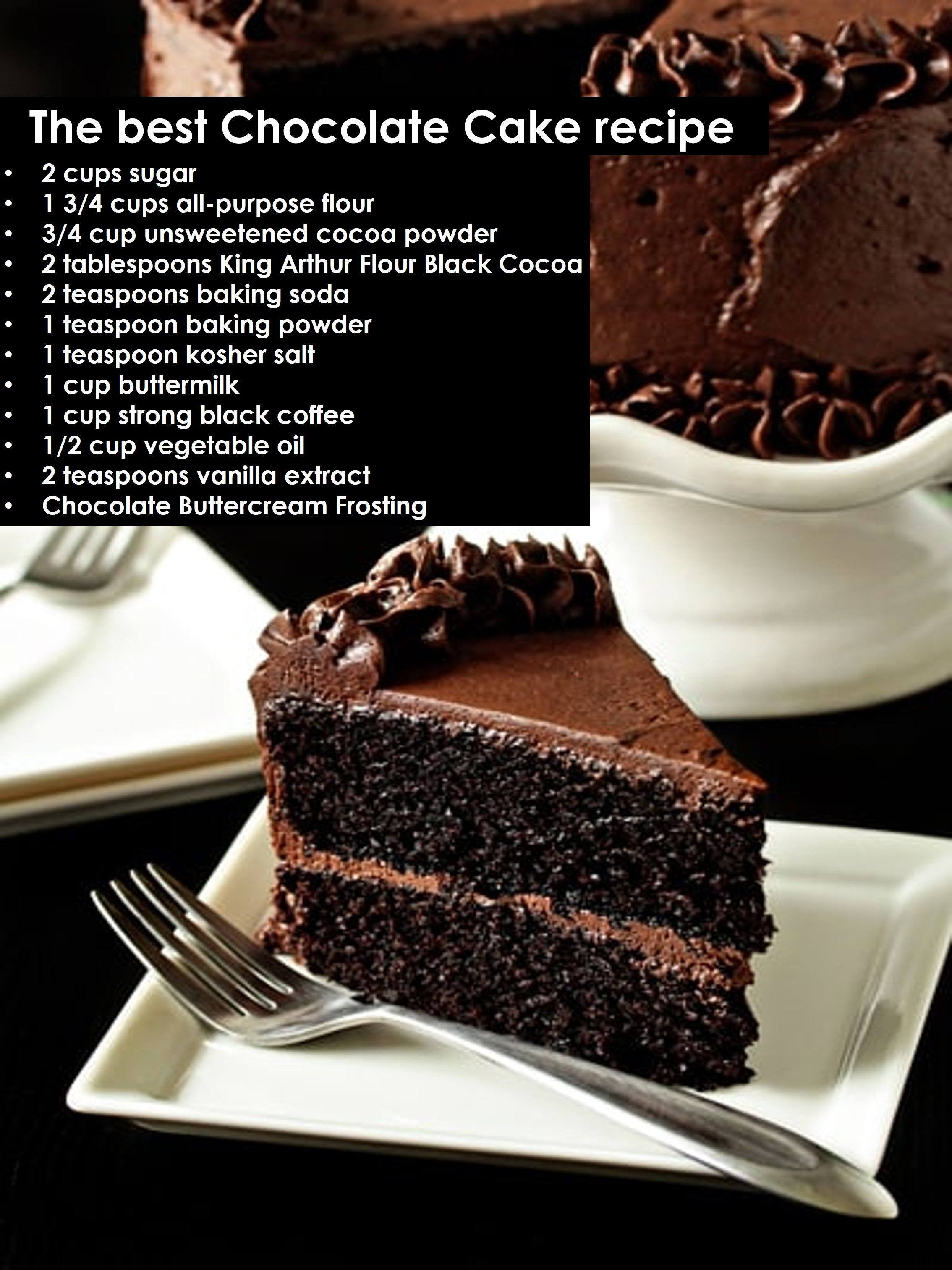 Do you want to know the full recipe? #chocolatecake