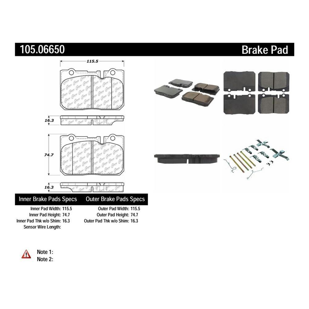 Centric Parts Disc Brake Pad Set 1995 2000 Lexus Ls400 Brake