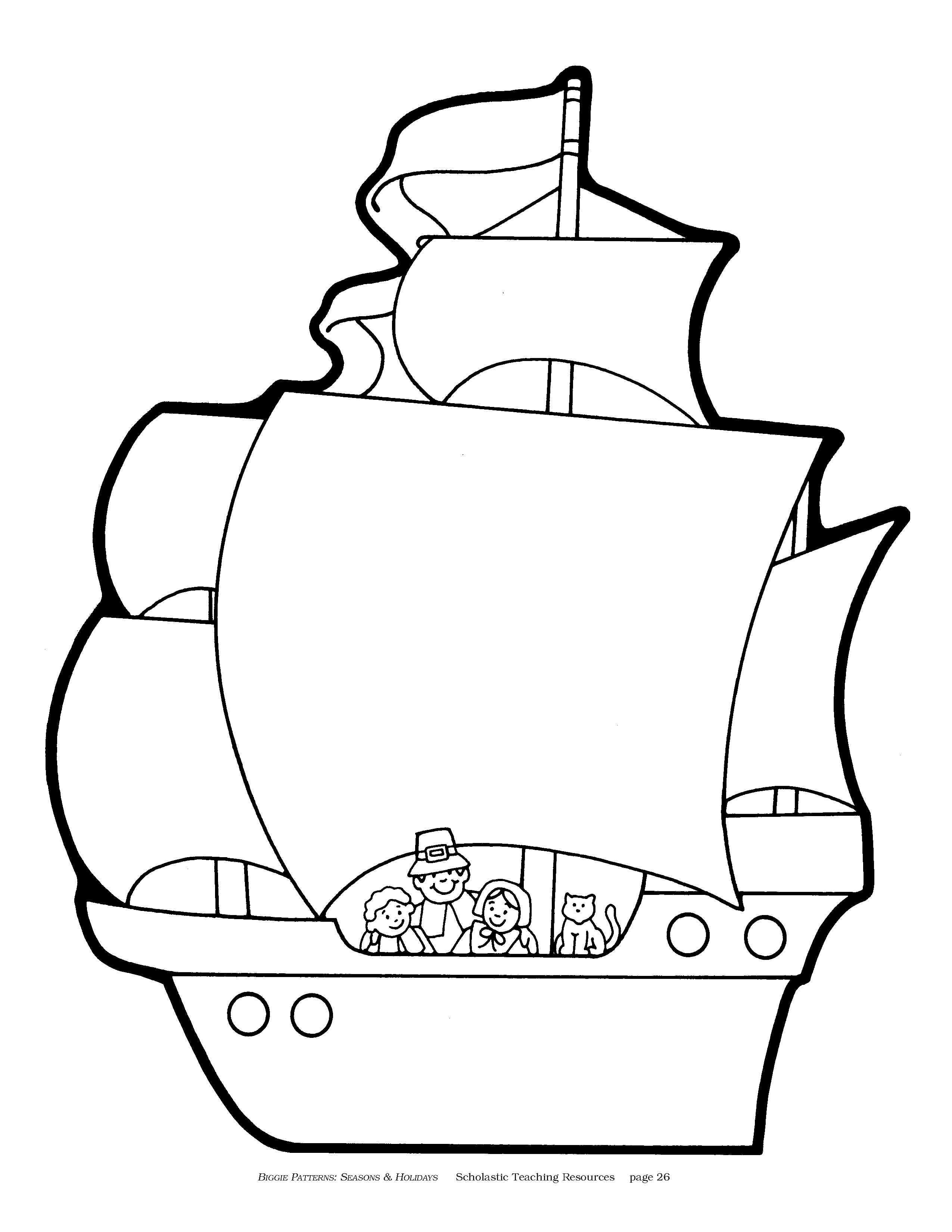 Printable coloring pages of mayflower - Take Your Class On The First Thanksgiving Virtual Field Trip Scholastic Com Free Thanksgiving Coloring Pagesfirst