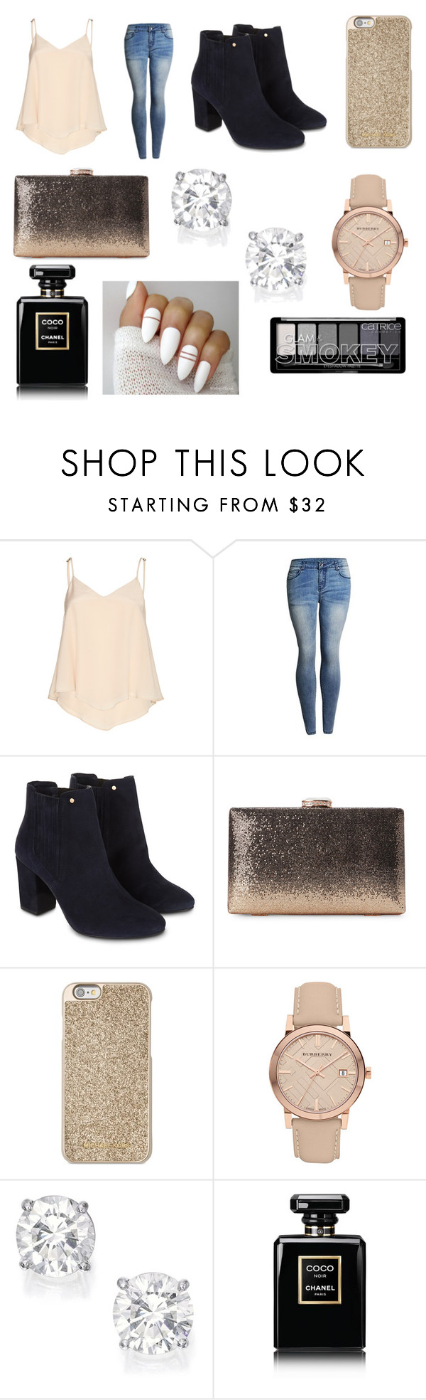 """""""Date Night 3 x"""" by immig2003 on Polyvore featuring Alice + Olivia, Monsoon, Michael Kors, Burberry and Chanel"""