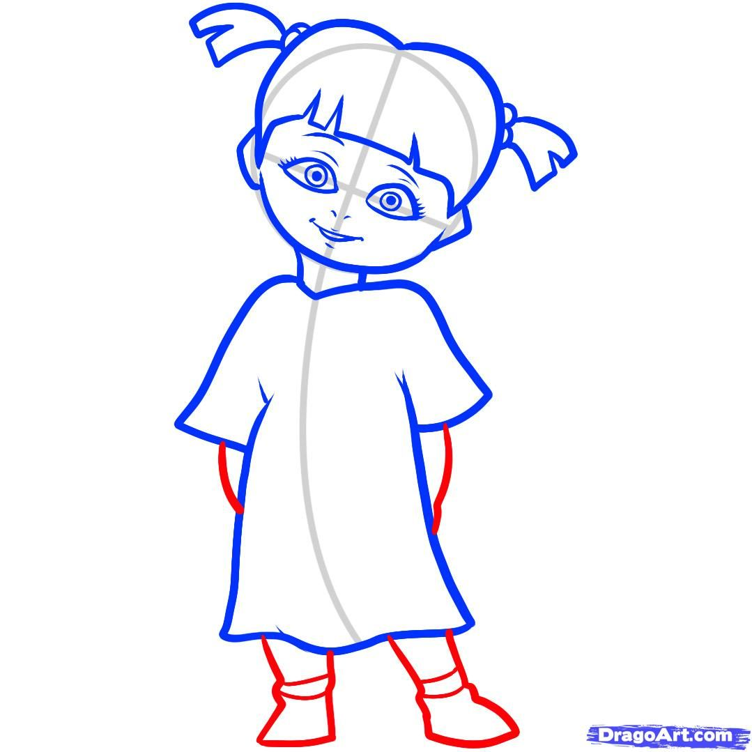 how to draw boo, boo, monsters inc step 6 | My spec!äl Ärt ...