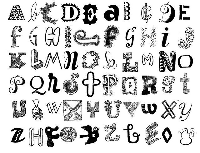 Letters 25 pinterest fonts doodles and craft cute way to write letters altavistaventures Gallery