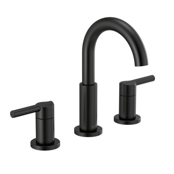 Matte black bathroom faucet