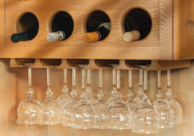 Vertical Wall Wine Cabinet U0026 Glass Holder   DeWils Custom Cabinetry    Planning Center   Accessories