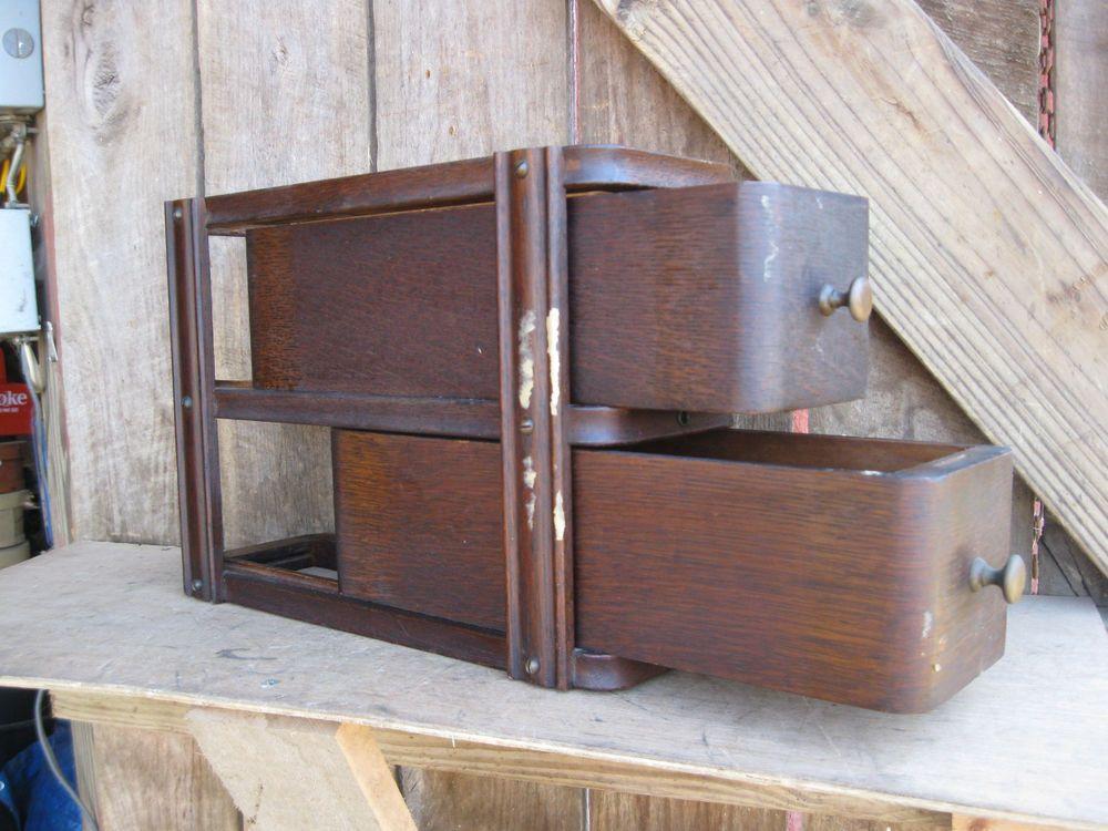 Antique Primitive Oak Sewing Cabinet #Americana #singer   Vintage ...