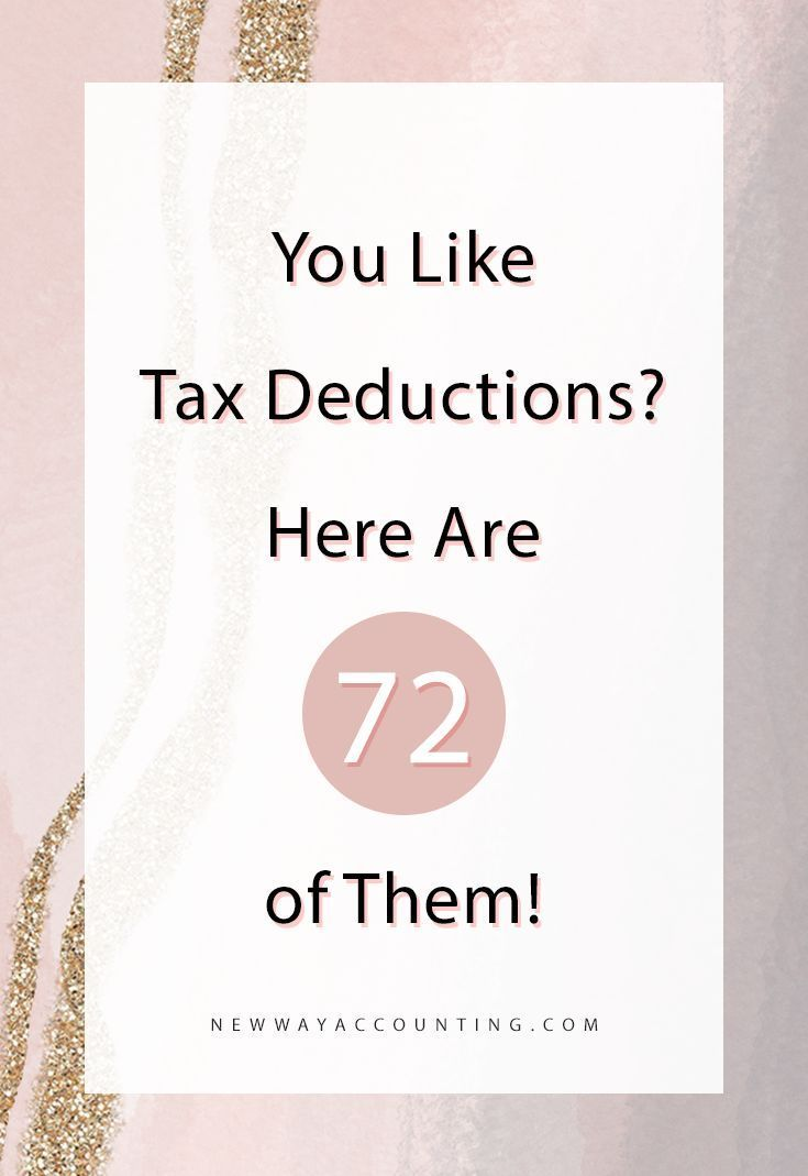 72 Great Tax Deductions For Your Business in 2020 | Small ...