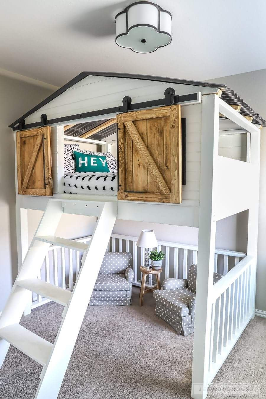 Love The Little Loft Area With The Barn Doors Diy Sliding Barn Door Bedroom Design Cool Rooms