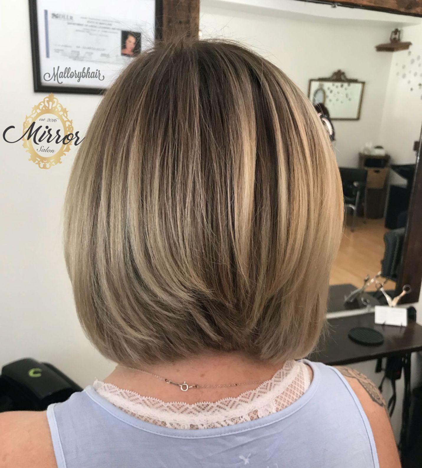 long stacked haircuts