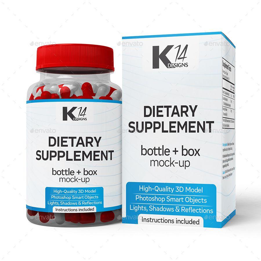 Download Supplement Bottle Box Mock Up Supplement Bottles Bottle Mockup Bottle Box