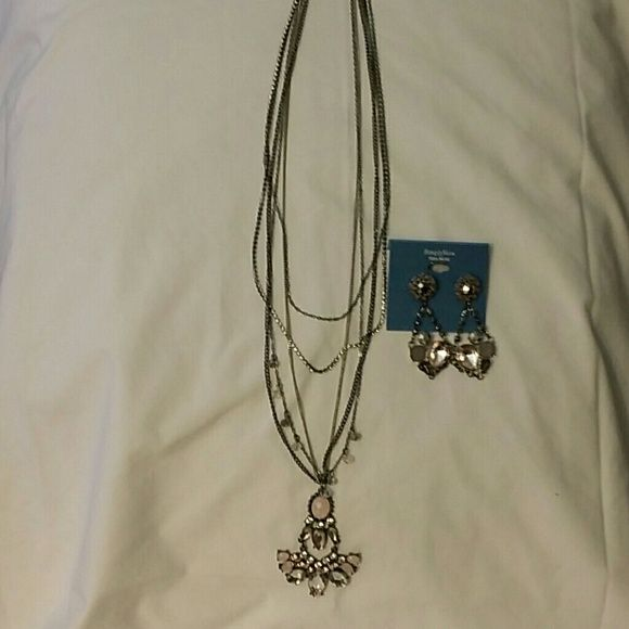 Necklace set Silver with stones Vera Wang Jewelry Necklaces