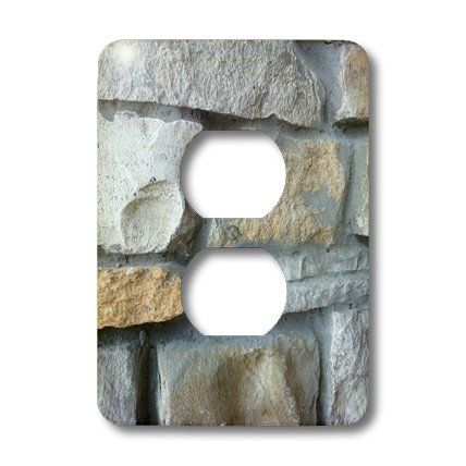 3drose llc lsp 28339 6 stone wall 2 plug outlet cover on wall outlet id=21577
