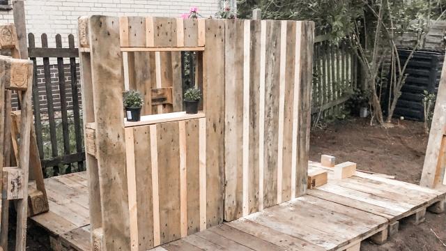 DIY (mit Bildern) Diy spielhaus, Spielhaus selber bauen