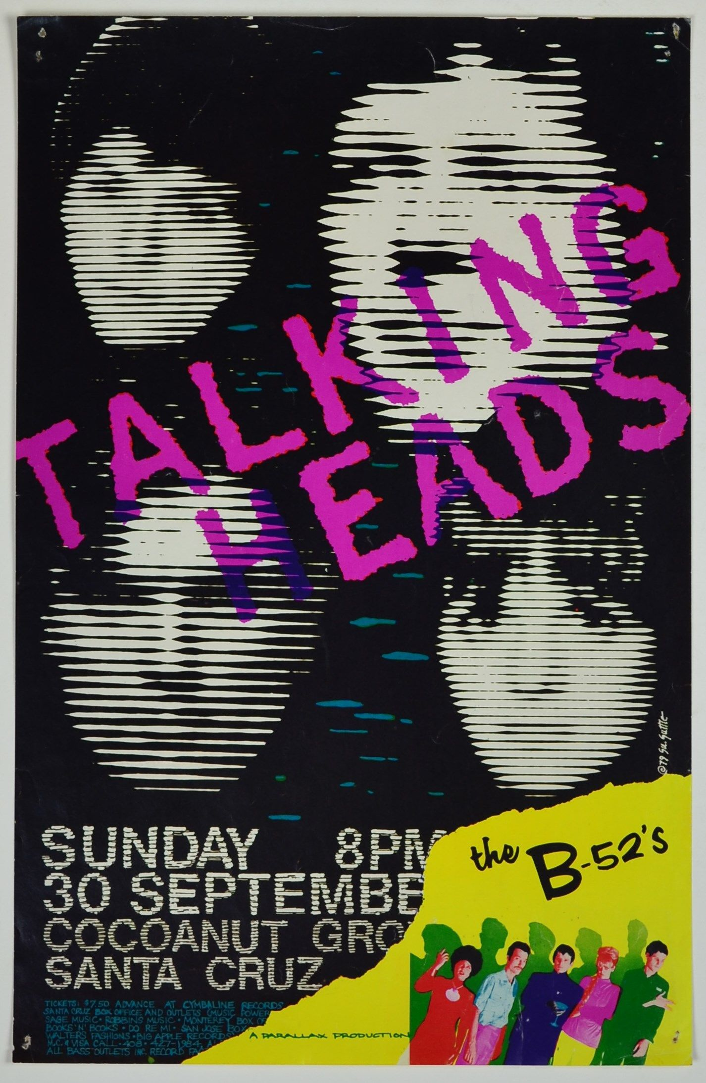Wayback Machine Asheville 1984 >> Here Is A Talking Heads And B 52 S Concert Poster From The Cocoanut