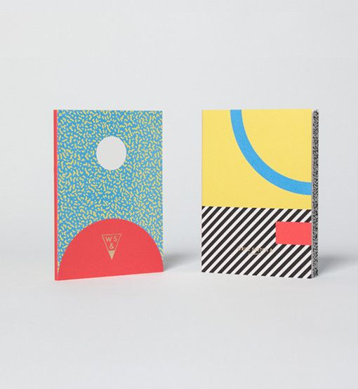 4 different coloured fun and ironic notebooks.