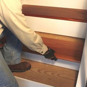 how to install risers on open stairs
