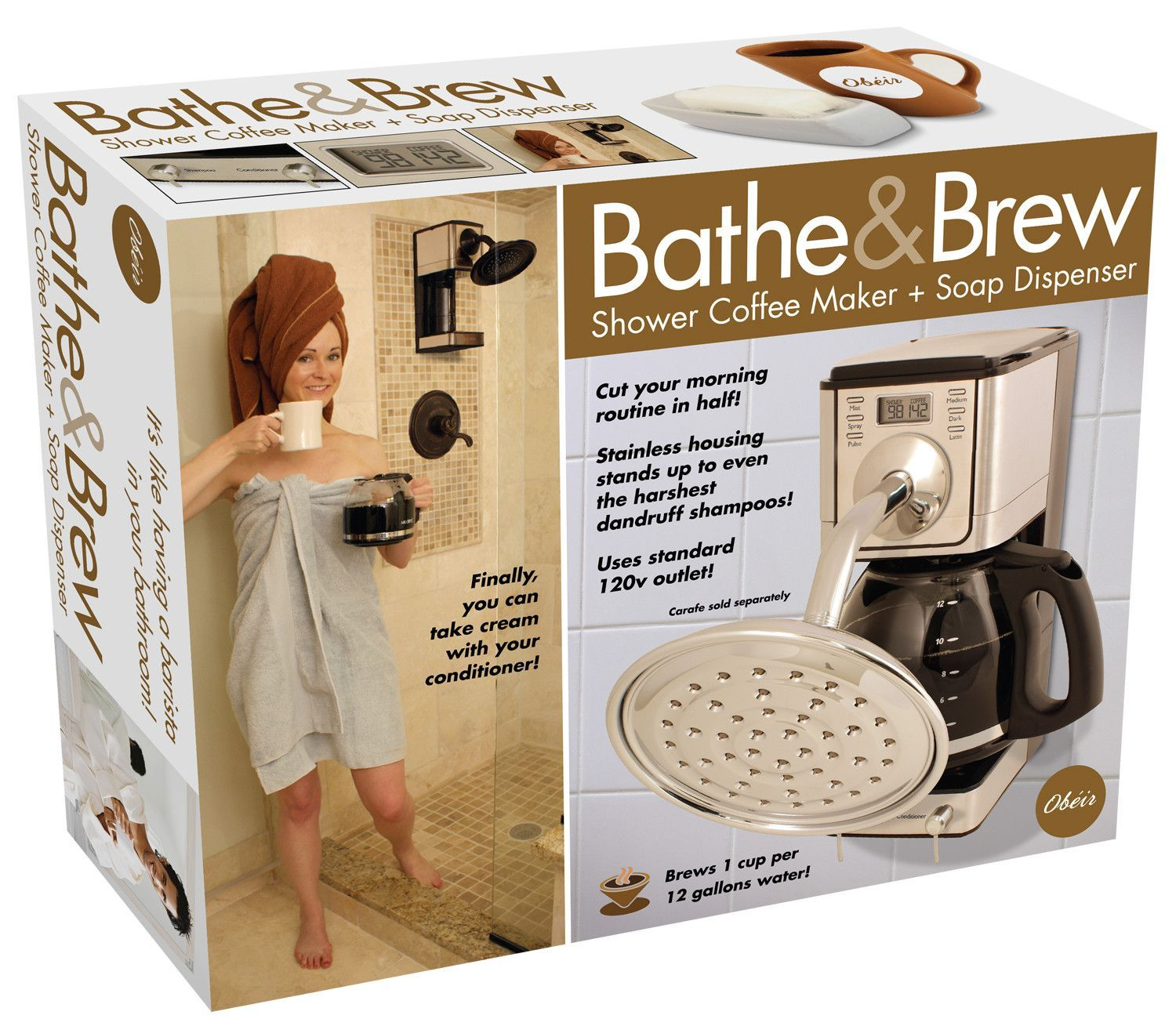 Bathe brew shower brew your coffee at the same time