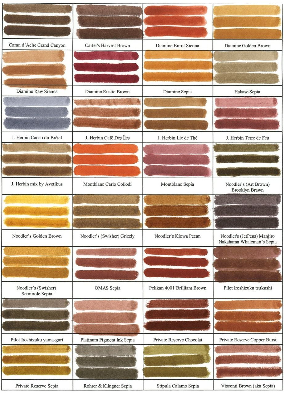 fountain pen ink sample colors fabulous reference penne