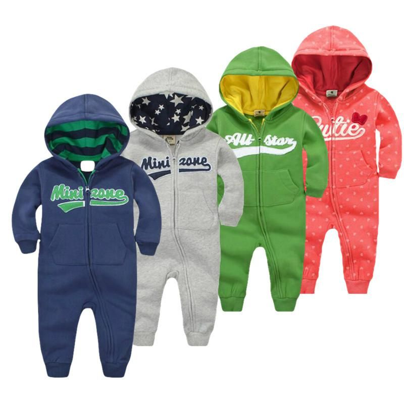 Fashion Star Kids Girls Boys Hooded All in One Jumpsuit