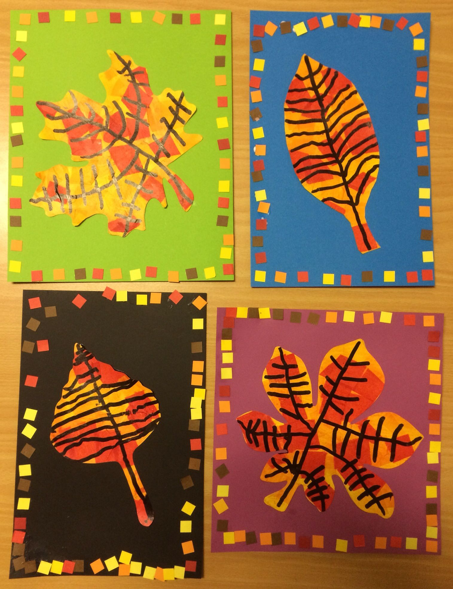 Leaves on pinterest autumn leaves fall leaves crafts and fall - Really Sweet Fall Leaf Art For Little Hands Love The Borders Idea Only