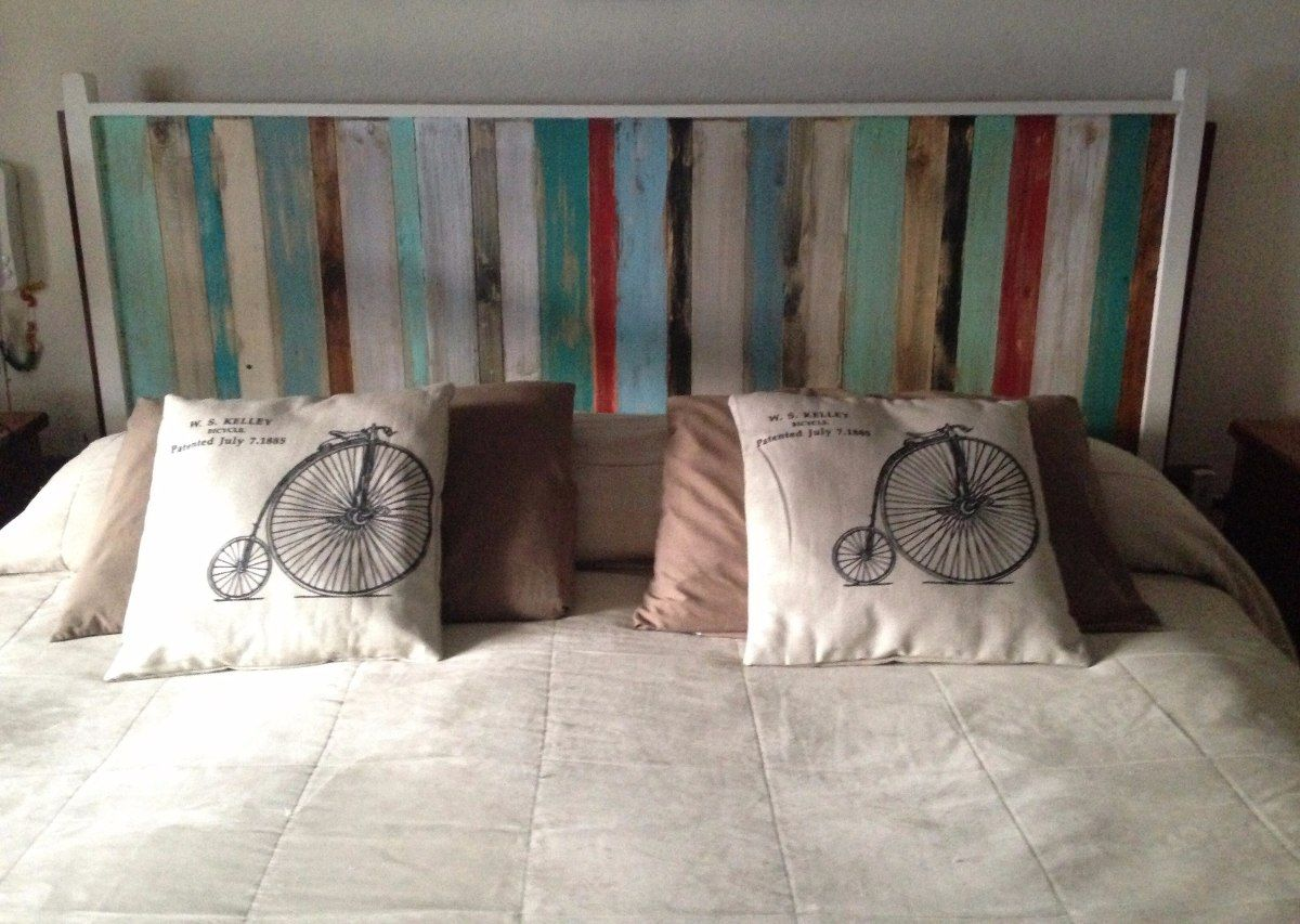 Respaldo de cama madera rustico 961301 mlc20296546976 - Cabeceros de madera rusticos ...