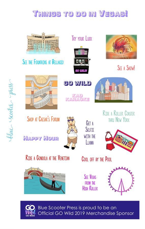 Wild Things To Do In Las Vegas: GO Wild Things To Do In Las Vegas! 42 Planner Stickers