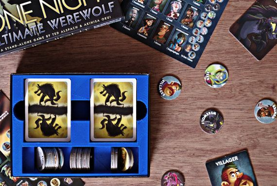 3D printed game insert for One Night Ultimate Werewolf and