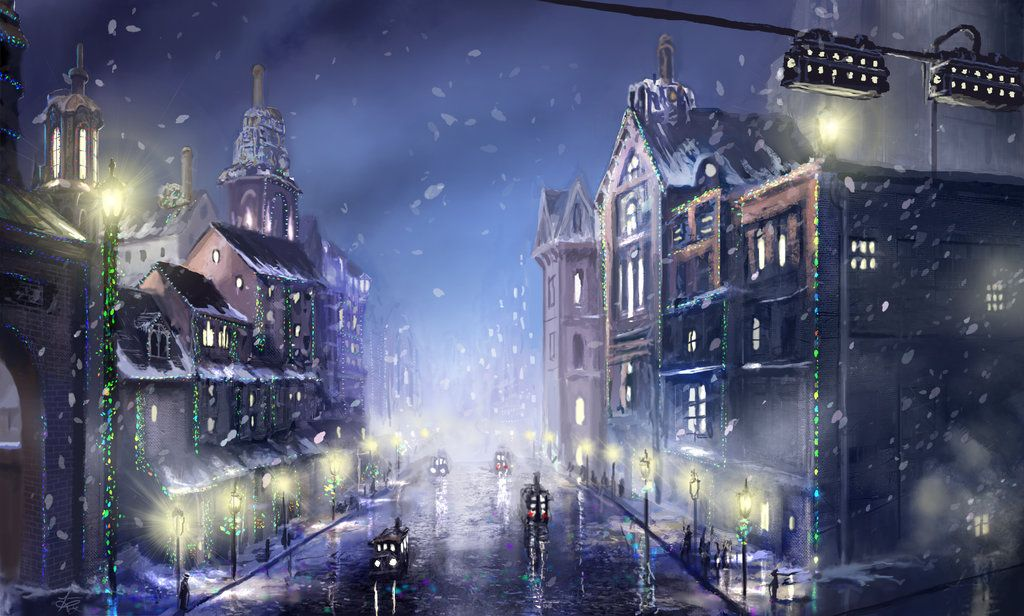 Steampunk City Christmas by on