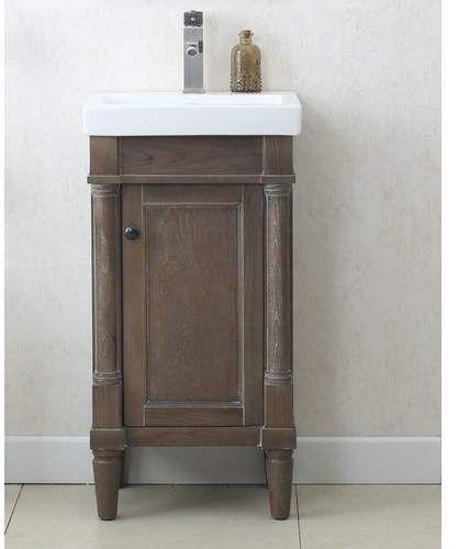 malena 18 single sink bathroom vanity set in 2019 purple bathroom rh pinterest com 18 inch wide bathroom vanity and sink 18 bathroom vanity with vessel sink
