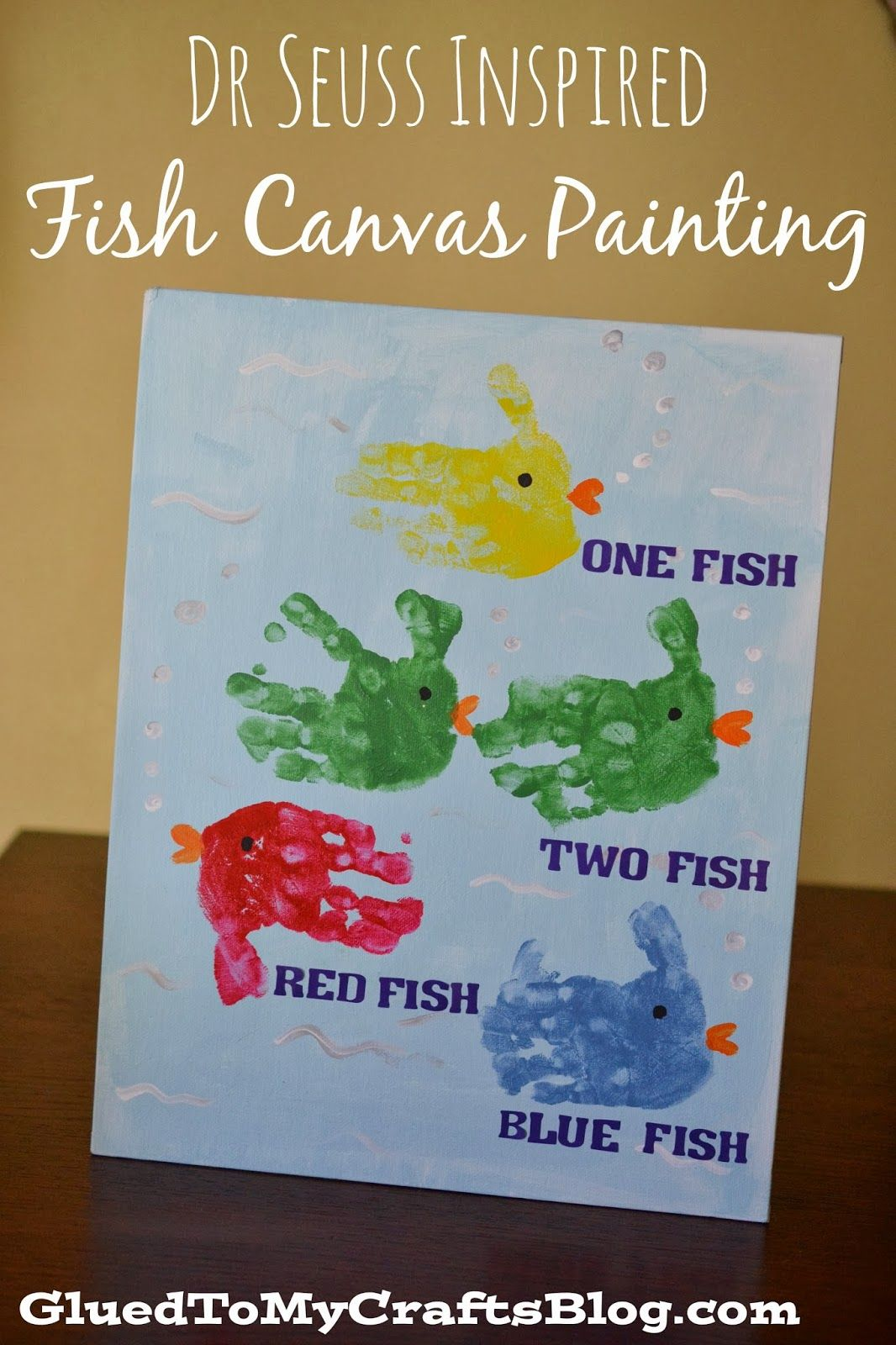 Dr Seuss Inspired Fish Canvas Painting Kid Craft