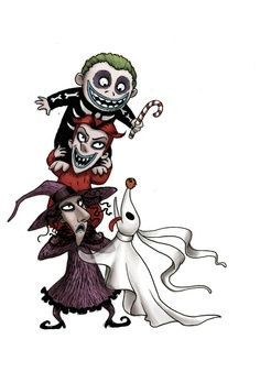 Tim Burton Characters Nightmare Before Christmas