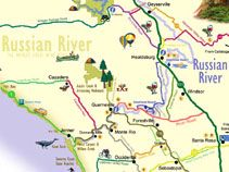 Map Of Jenner California.Map Of The Russian River Area Jenner Ca Wanderlust