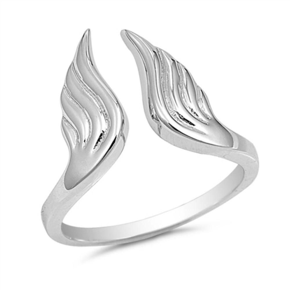 Faith Hammered Metal Bypass Ring