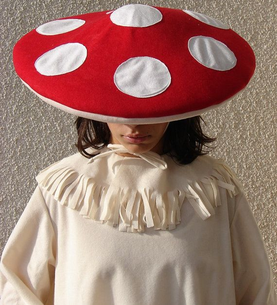 mushroom costume is made from 2 pieces it is made from microfiber