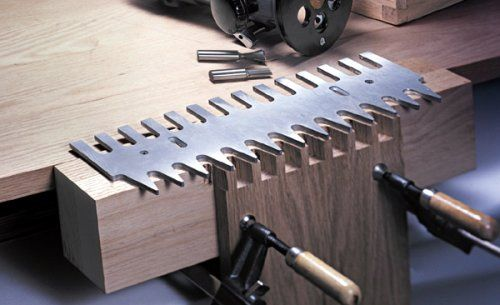 MLCS Pins and Tails Through Dovetail Template Small with 1