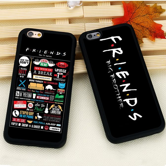tv show friends printed black soft rubber skin mobile phone cases