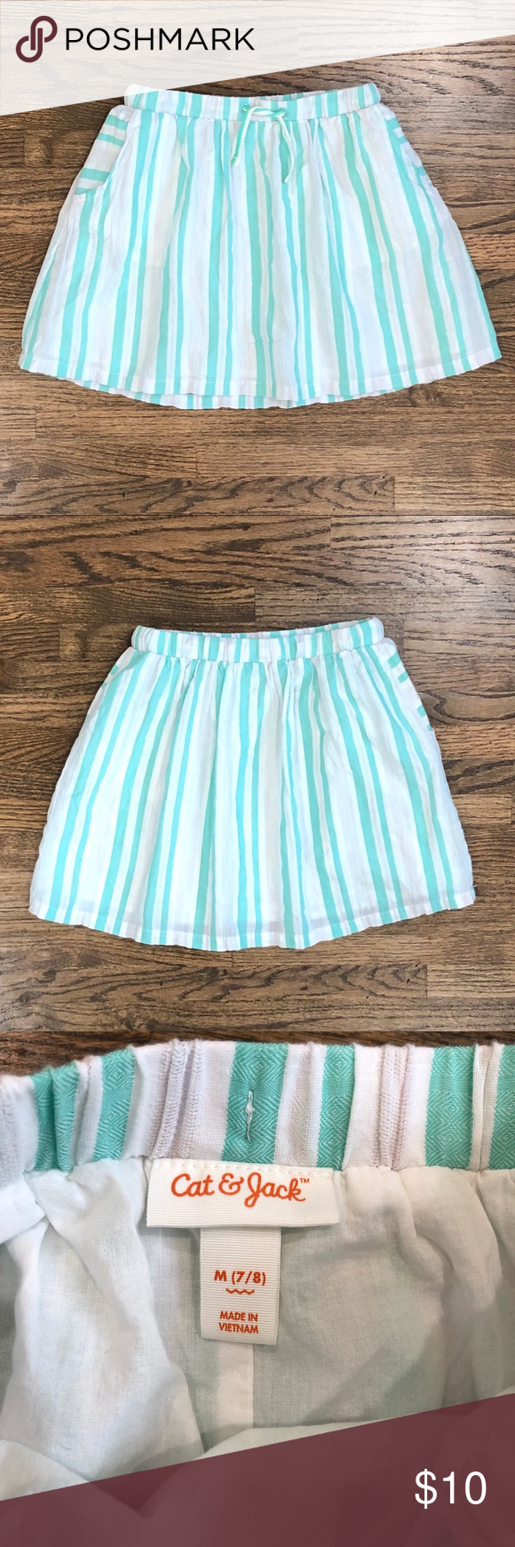 Cat & Jack Mint & White Twirl Skirt This is the sweetest skirt for spring! The colors are great and it has a full cut plus a lining. Best of all, it has pockets! It looks like it is new.  #catandjack #green #twirl #circleskirt #skater Cat & Jack Bottoms Skirts #twirlskirt Cat & Jack Mint & White Twirl Skirt This is the sweetest skirt for spring! The colors are great and it has a full cut plus a lining. Best of all, it has pockets! It looks like it is new.  #catandjack #green #twirl #circleskirt #twirlskirt