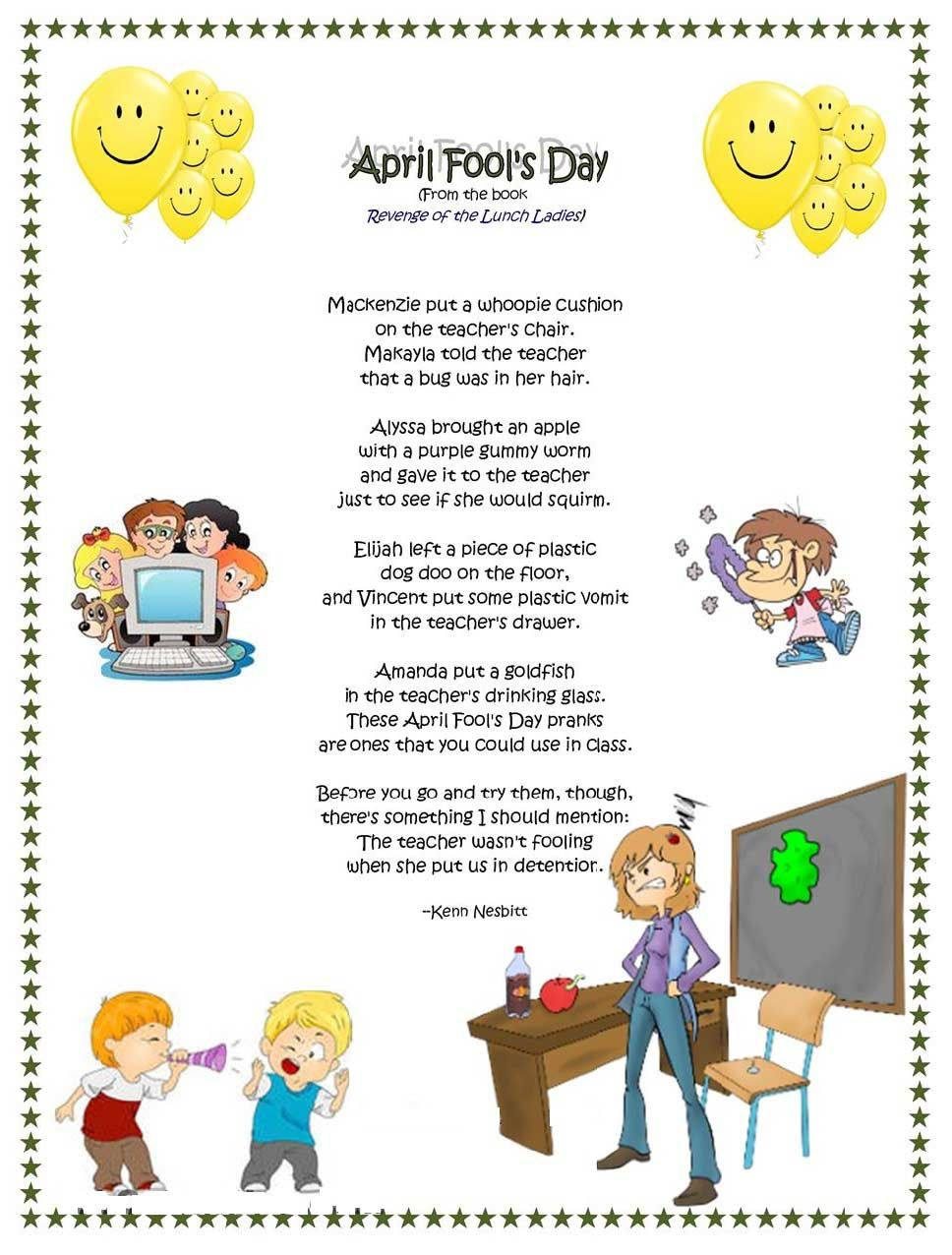 #AprilFoolsDay Funny Poems In Hindi & English | Kids Poems ...