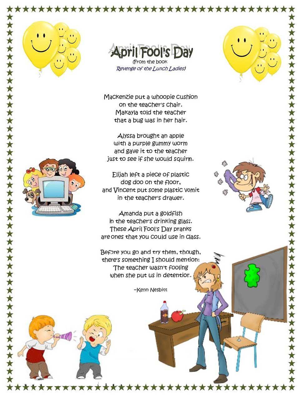 April Fools Day Funny Poems In Hindi \u0026 English   Kids Poems For All Fools  Day   Kids poems [ 1276 x 968 Pixel ]