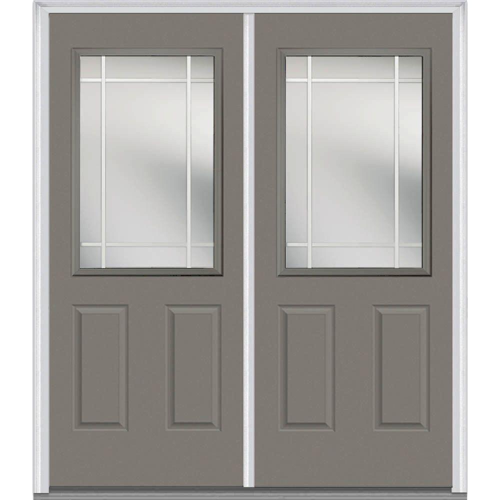 Mmi Door 72 In X 80 In Prairie Internal Muntins Left Hand