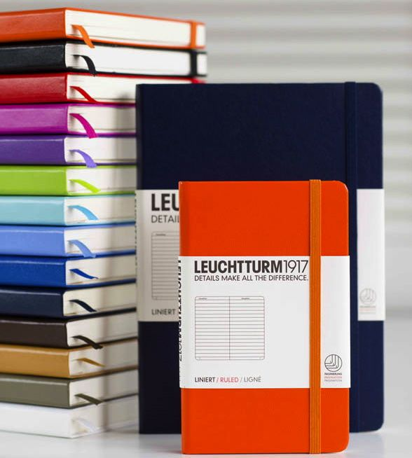 leuchtturm1917 makes beautiful leather notebooks with better paper numbered pages perforated sheets a pocket and the all important dot grid paper