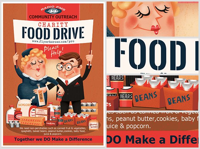 Charity-Food-Drive-Flyer-Template-2jpg (670×500) Food Flyers - can food drive flyer template