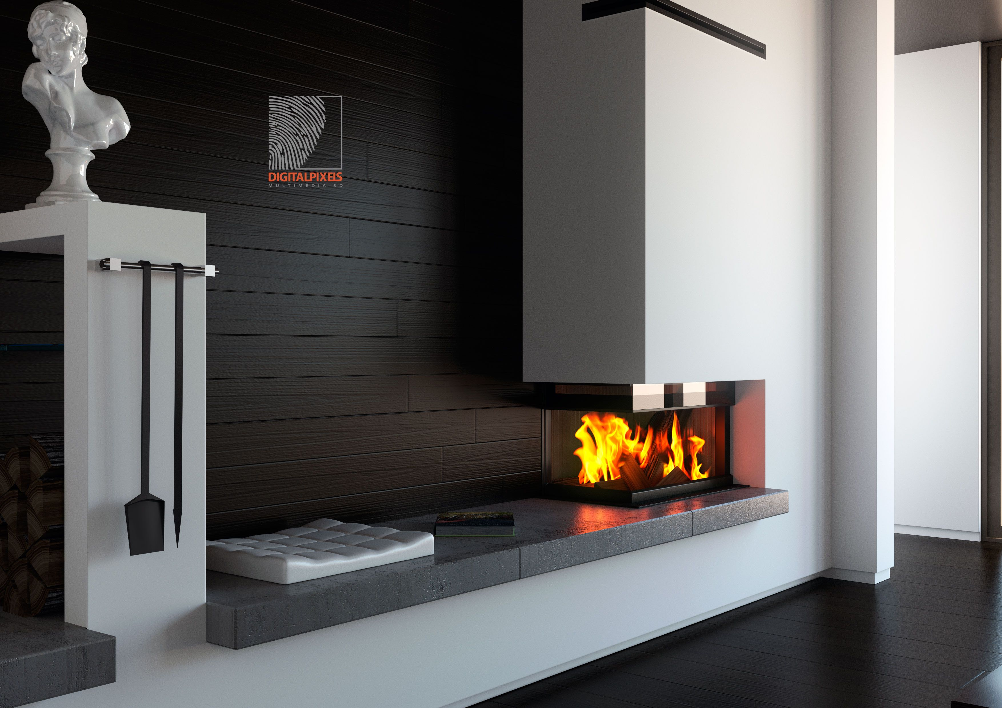 Fireplace 3ds Max Iray Render