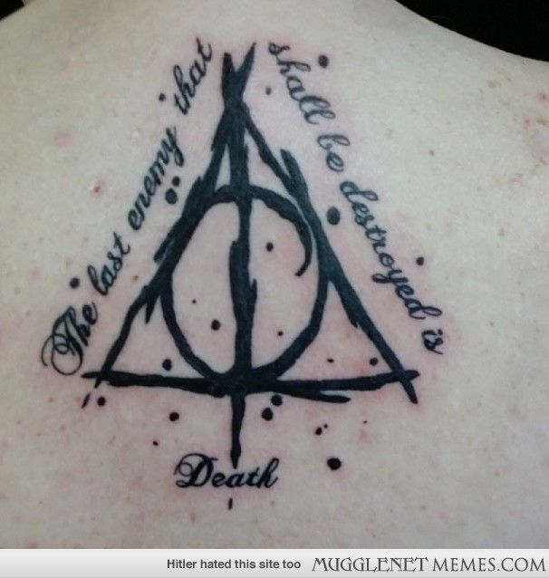 Deathly Hallows Tattoo Harry Potter Memes And Funny Pics