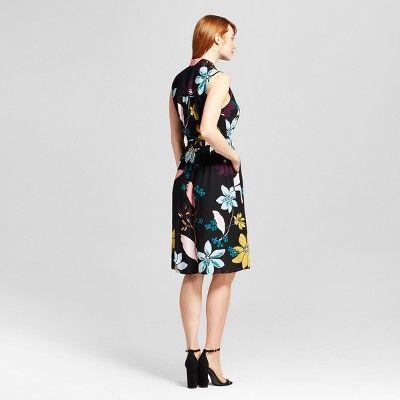 Women's Sleeveless Button Up Shirt Dress - Who What Wear Multi Floral Xxl