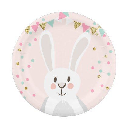 Bunny paper plates birthday spring easter pink kitchen gifts diy bunny paper plates birthday spring easter pink kitchen gifts diy ideas decor special unique individual negle Image collections
