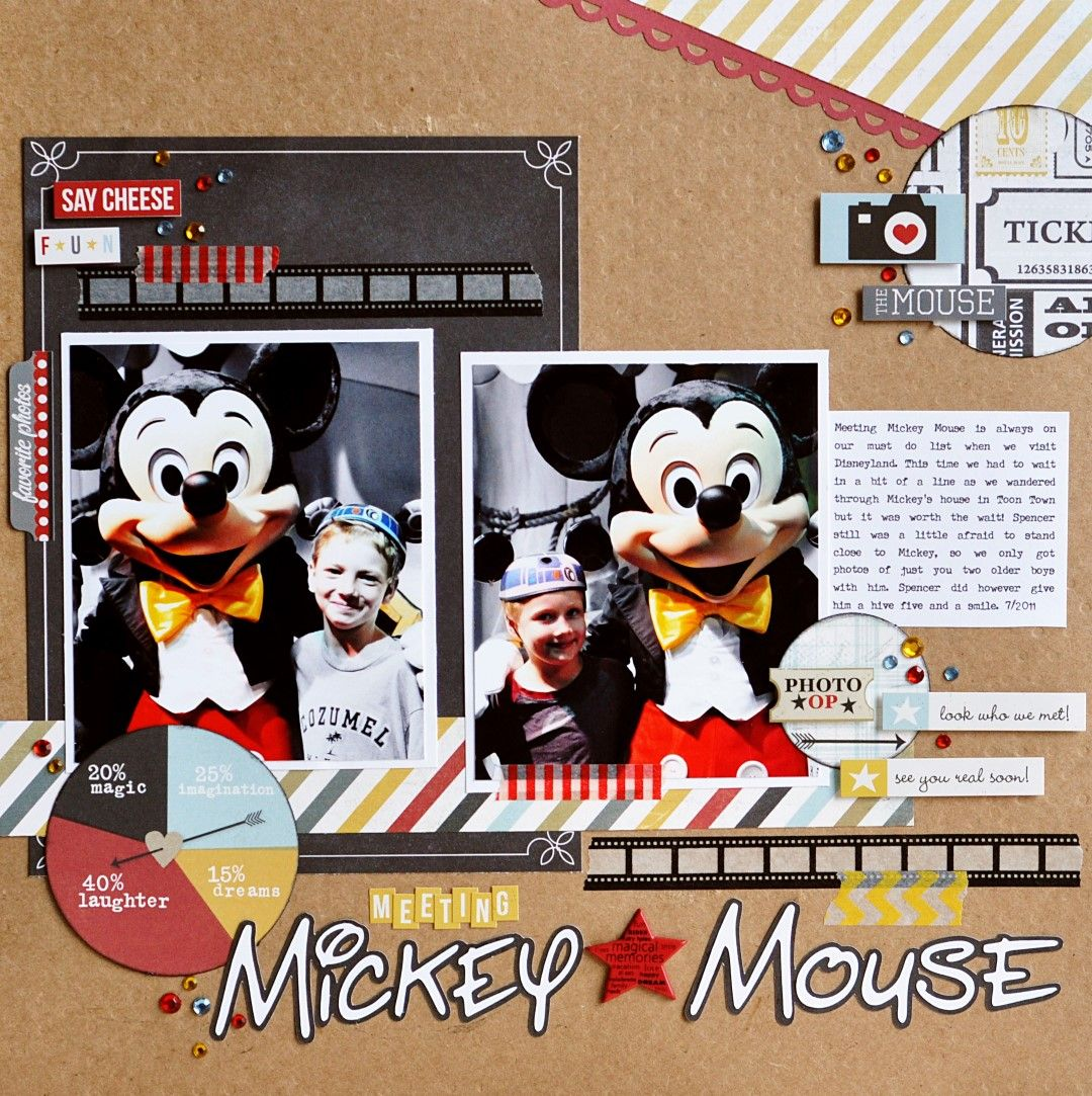 Meeting Mickey Mouse - Scrapbook.com