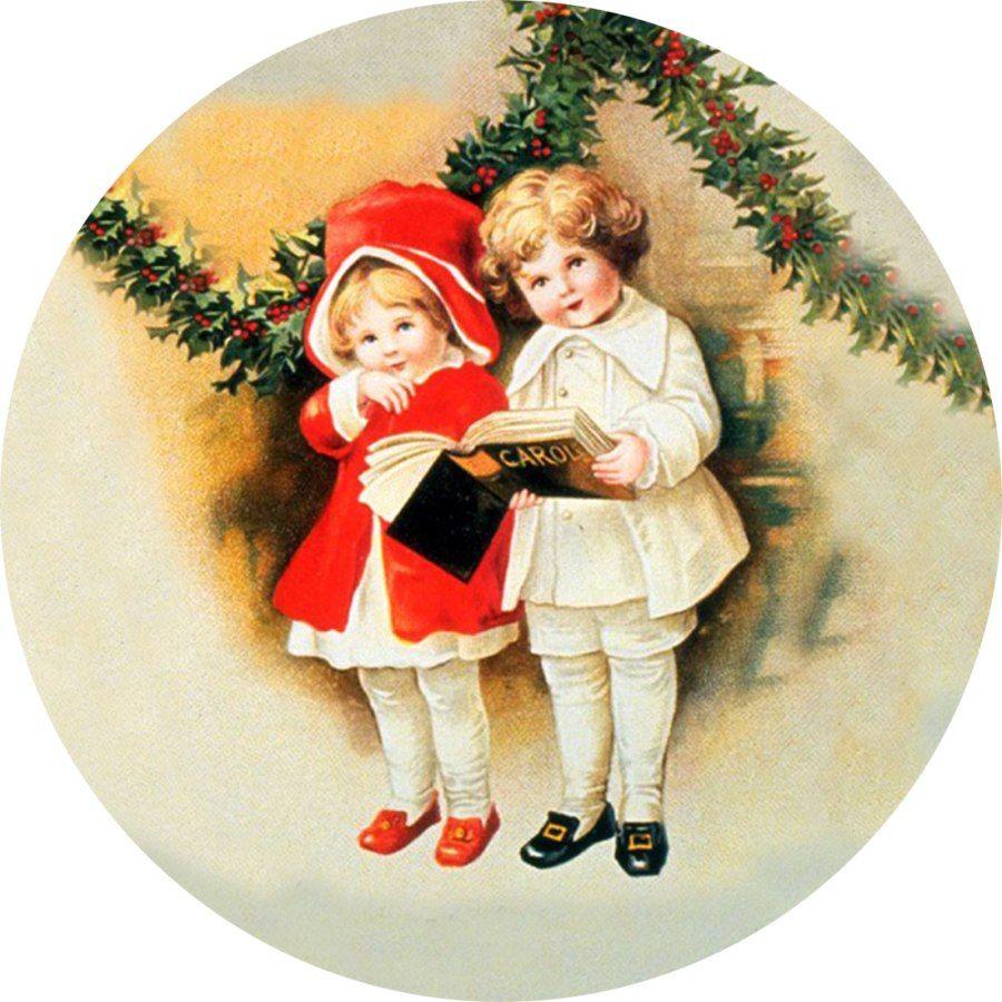 Оформление, новый год открытки красивые ретро